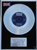 "THE ROLLING STONES- 7"" Platinum Disc-JUMPIN' JACK FLASH"